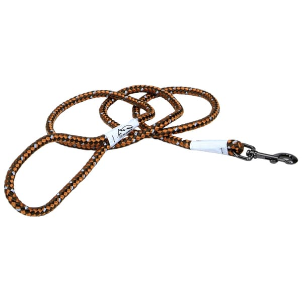 Coastal K9 Explorer Orange Reflective Braided Rope Snap Lead