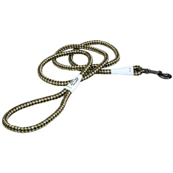 Coastal K9 Explorer Green Reflective Braided Rope Snap Lead