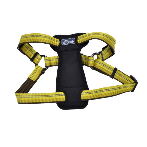 Coastal K9 Explorer Yellow Reflective Adjustable Harness
