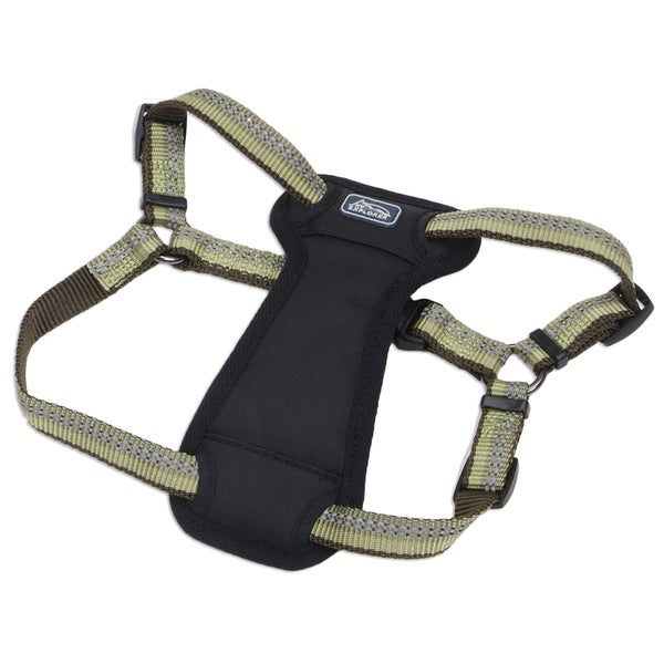 Coastal K9 Explorer Green Reflective Adjustable Harness
