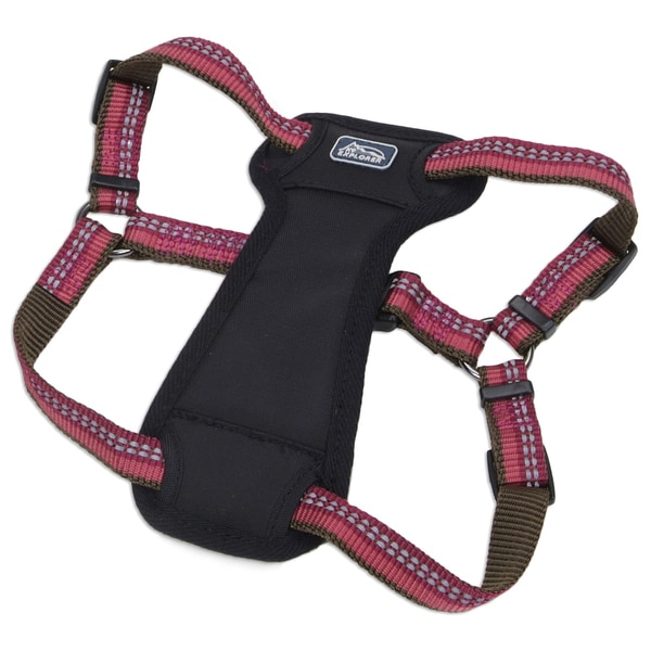 Coastal K9 Explorer Berry Reflective Adjustable Harness