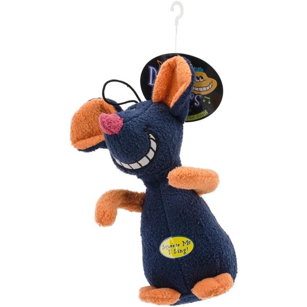 Multipet Deedle Dude Singing Plush Mouse Dog Toy  Pet Toy 15255876