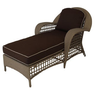 Somette Sierra Outdoor Day Chaise with Brown Cushion