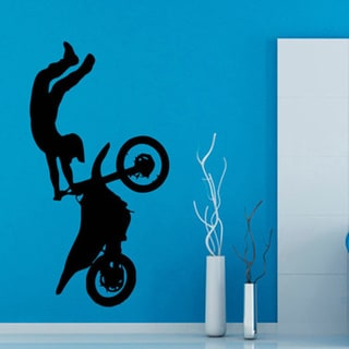 Motocross Dirt Bike Biker Jump Vinyl Sticker Wall Art
