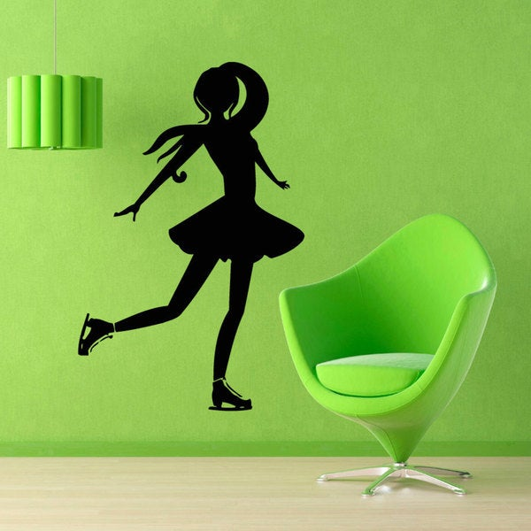 Figure Skating Inspirational Vinyl Sticker Wall Art