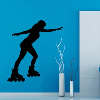 Roller Skating Trio Vinyl Sticker Wall Art