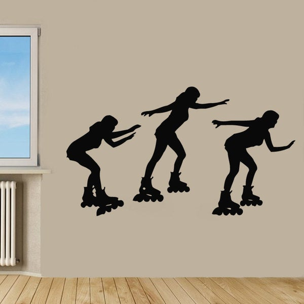 Roller Skating Vinyl Sticker Wall Art