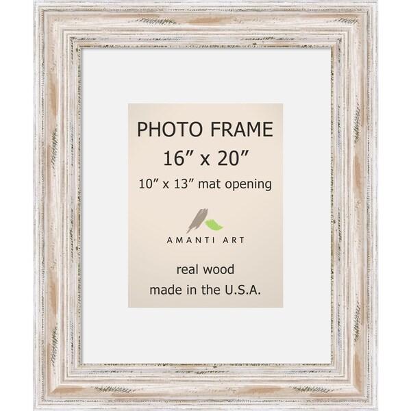 Alexandria Whitewash Photo Frame 16x20 Matted To 10x13