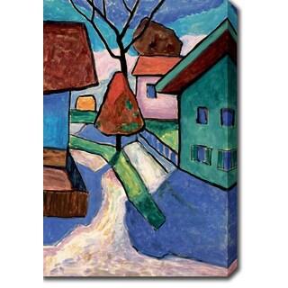 'Winter Town' Oil on Canvas Art