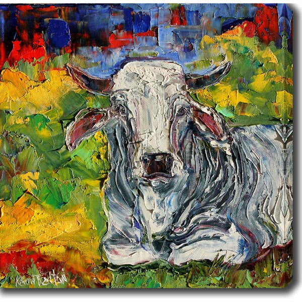 'Cow' Oil on Canvas Art