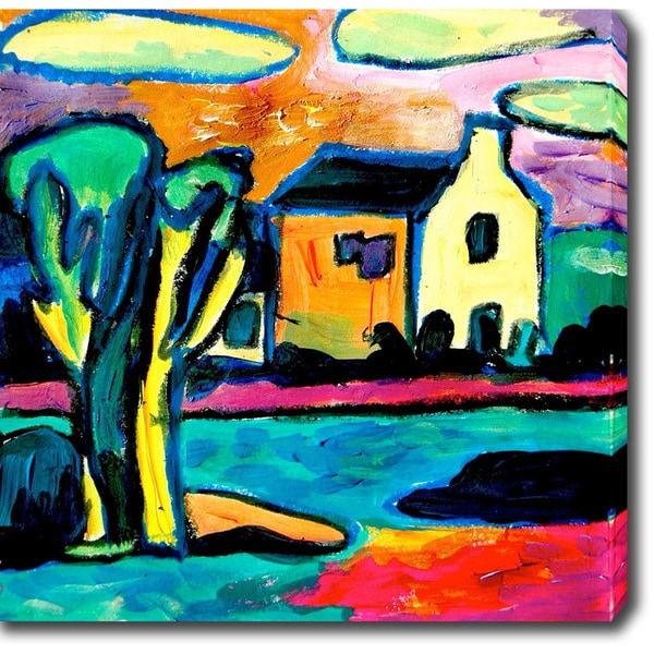 'House by the Creek' Oil on Canvas Art