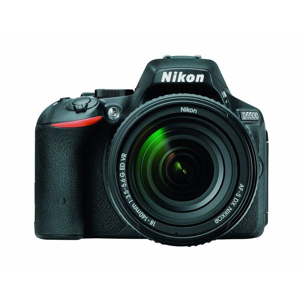 Nikon D5500 24.4MP Black Digital SLR Camera with 18-140 mm Lens