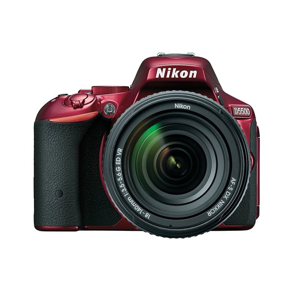 Nikon D5500 24.4MP Red Digital SLR Camera with 18-140mm Lens