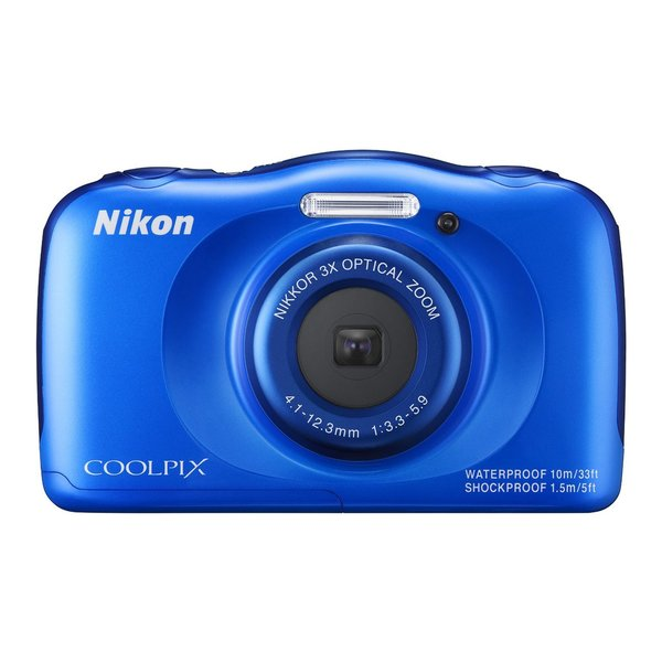 Nikon S33 13.2MP Blue Digital Camera