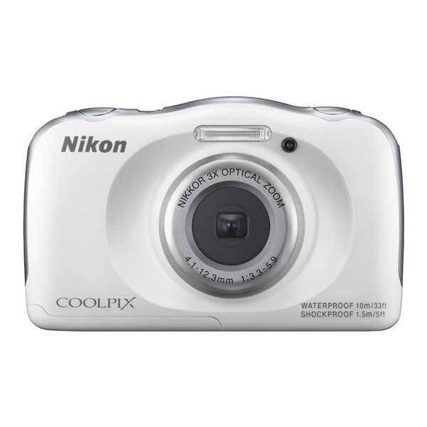 Nikon S33 13.2MP White Digital Camera