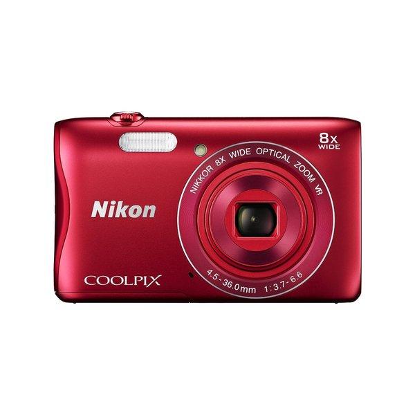Nikon S3700 20.1MP Red Digital Camera