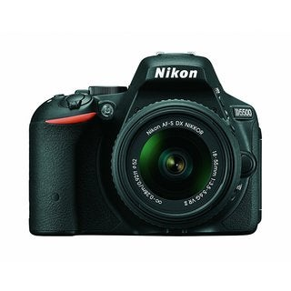 Nikon D5500 24.2MP Black Digital SLR Camera with 18-55mm Lens