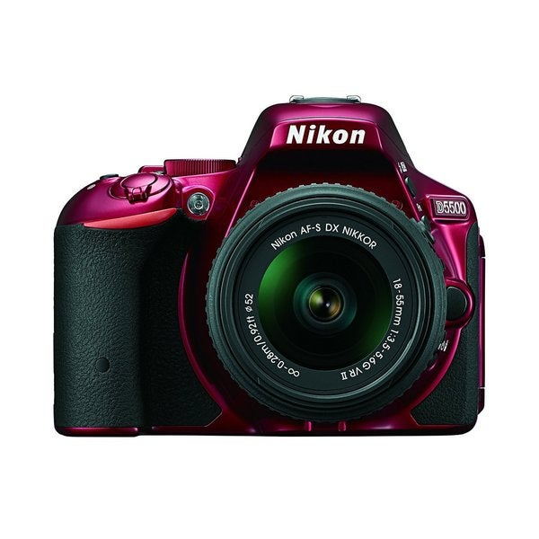 Nikon D5500 24.2MP Red Digital SLR Camera with 18-55mm Lens