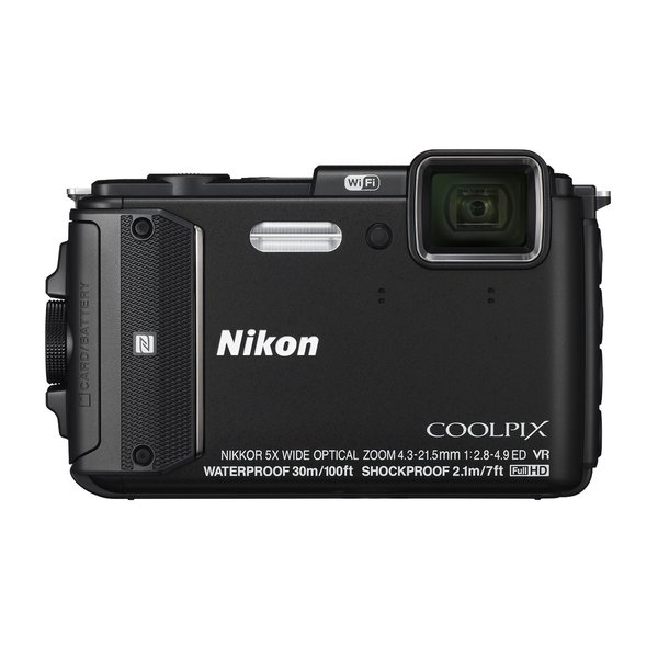 Nikon AW130 16MP Black Digital Camera