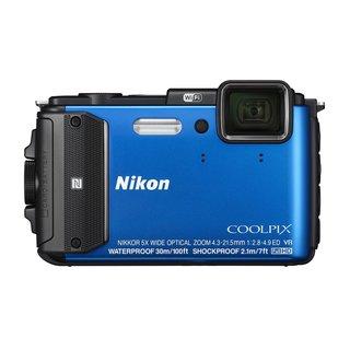 Nikon AW130 16MP Blue Digital Camera