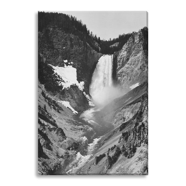 Ansel Adams 'Yellowstone Falls' Gallery Wrapped Canvas