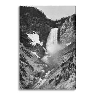 Gallery Direct Ansel Adams 'Yellowstone Falls' Gallery Wrapped Canvas