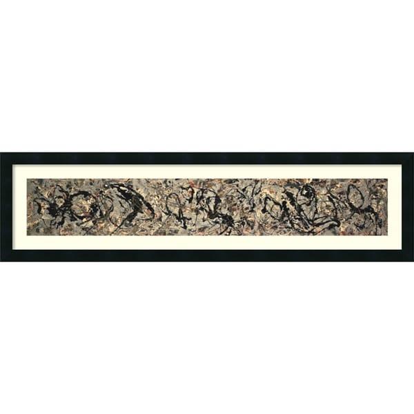 Jackson Pollock 'Number 10, 1949' Framed Art Print 42 x 11-inch