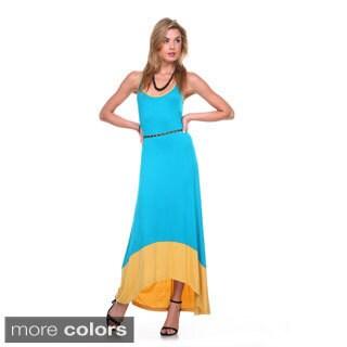 Stanzino Women's Belted Tank Maxi Dress