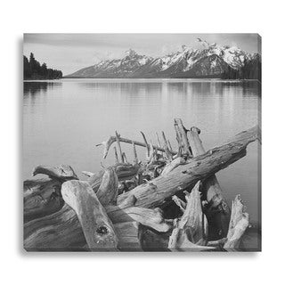 Gallery Direct Ansel Adams 'Jackson Lake in Foreground with Teton Range in Background' Gallery Wrapped Canvas