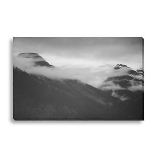 Gallery Direct Ansel Adams 'In Glacier National Park, Tops of Pine Trees, Snow Covered' Gallery Wrapped Canvas