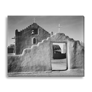 Gallery Direct Ansel Adams 'Church, Taos Pueblo, New Mexico, 1941' Gallery Wrapped Canvas