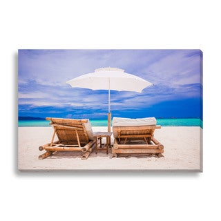 Travnikovstudio 'Beach Vacation' Oversized Gallery Wrapped Canvas