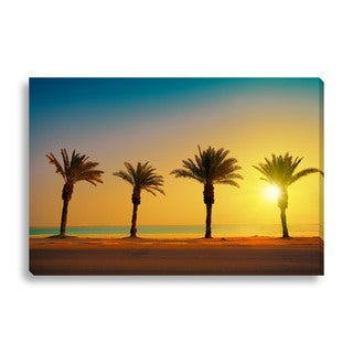 Vvvita 'Palm Trees' Oversized Gallery Wrapped Canvas