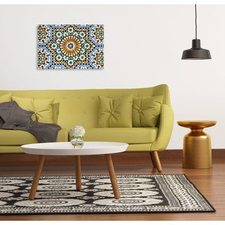 OFranz 'Morrocan Mosaic Tiles' Oversized Gallery Wrapped Canvas