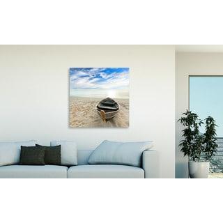 Gallery Direct Olga Khoroshunova 'Boat at Sunrise' Oversized Gallery Wrapped Canvas