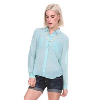 Stanzino Women's Long Sleeve Button Down Shirt