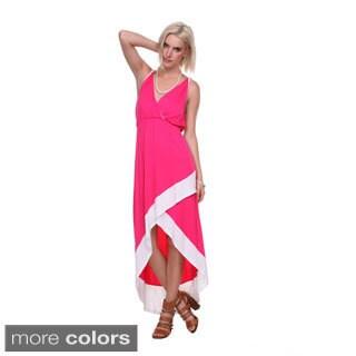 Stanzino Women's Asymmetric Hem Colorblock Long Dress