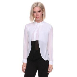 Stanzino Women's Colorblock Button Down Shirt