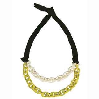 Faire Collection Dual Tagua Link Necklace in Cream (Ecuador)