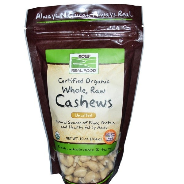 Now Foods Certified Organic Whole Raw Unsalted Cashews