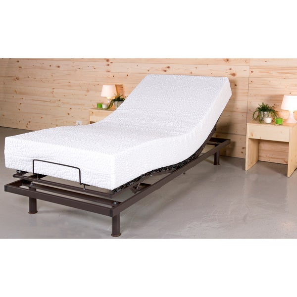 T-Motion 10-inch Twin XL-size Adjustable Mattresses Set with One Techno Core Pillow