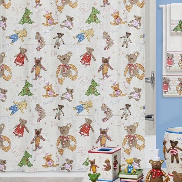 Creative Bath Little Friends Shower Curtain and Hooks Set