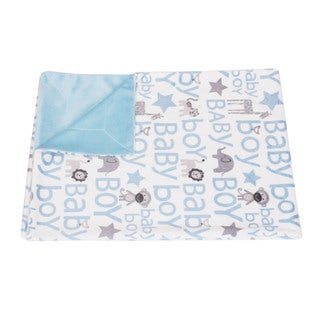Thro by Marlo Lorenz Cory Baby Boy Blue Safari Throw