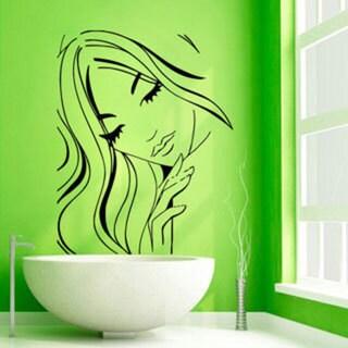 Make-up Sexy Face Beauty Spa Hair Salon Decor Black Sticker Vinyl Wall Art 15260066