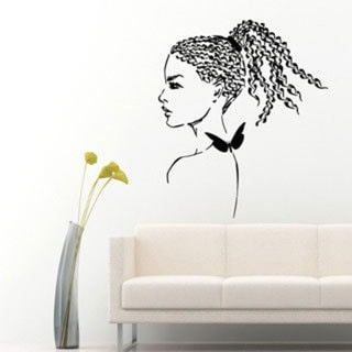 Make-up Sexy Face Beauty Spa Hair Salon Decor Vinyl Black Sticker Wall Art 15260076