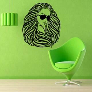 Girl Face Beauty Spa Hair Salon Decor Black Vinyl Sticker Wall Art 15260083