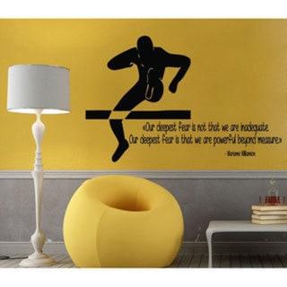 Running Track and Field Insporational Black Sticker Vinyl Wall Art