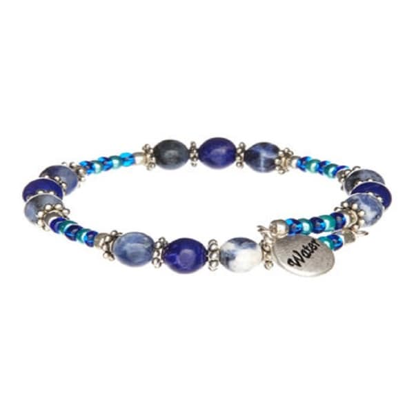 Blue Water Multi Gemstone Wrap Bracelet