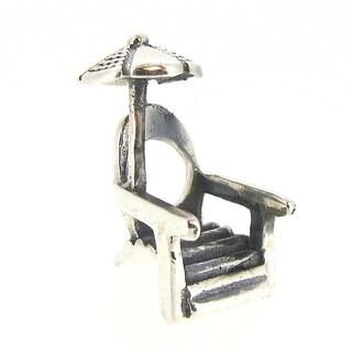 Queenberry Sterling Silver Beach Chair European Bead Charm