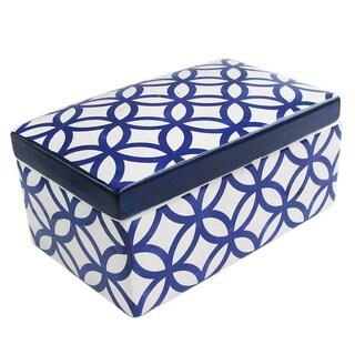 Medallion Circlee Blue Ceramic Box